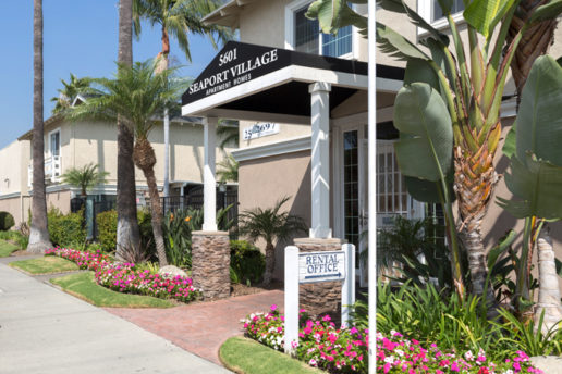 Rental Office entrance, 5601 Seaport Village Apartment Homes